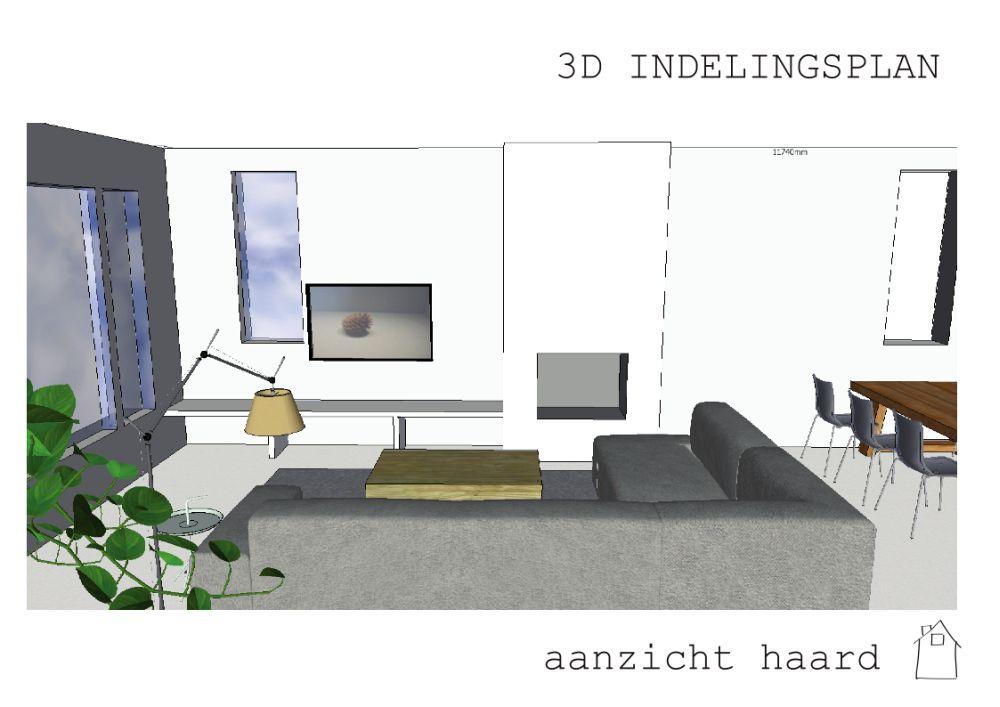 Ontwerp interieur en haard in Westmaas